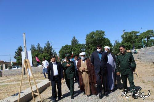 عملیات احداث یادمان شهدای غواص گمنام شهر انبارالوم آغاز شد