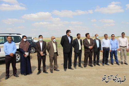 عملیات احداث دانشگاه پیام نور شهرستان آق قلا آغاز شد