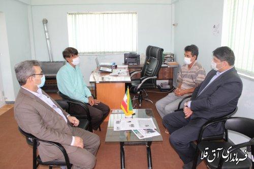 نماینده عالی دولت با دهیاران شهرستان آق قلا دیدار کرد