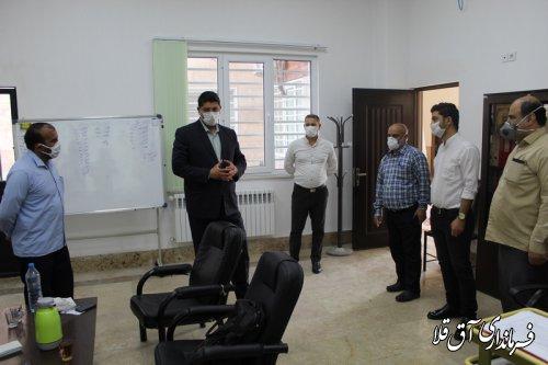 فرماندار و رئیس ستاد مقابله با کرونا از نهادهای حمایتی شهرستان آق قلا بازدید کرد