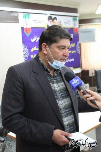 آئین بهره برداری از پروژه های دهه فجر شهرستان آق قلا برگزار شد