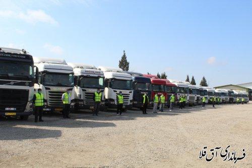 شرکت حمل و نقل بین المللی گودرز در شهرستان آق قلا،افتتاح شد