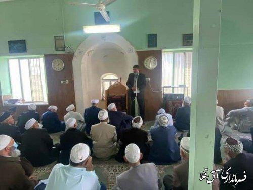 حضور فرماندار در نماز جمعه و گزارش اقدامات دولت دوازدهم در شهرستان آق قلا