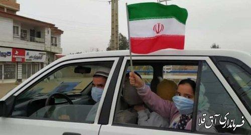 رژه خودرویی و موتوری در شهرستان آق قلا برگزار شد