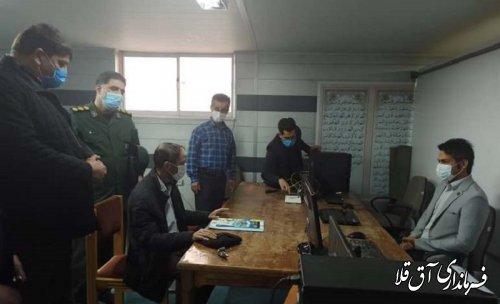 فرماندار و رئیس هیات اجرایی از روند ثبت نام داوطلبان انتخابات شهرستان آق قلا بازدید کرد