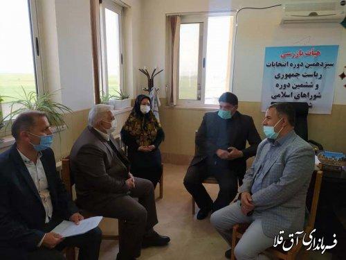 نشست مشترک هیات های اجرای،نظارت و بازرسی انتخابات شهرستان آق قلا برگزار شد