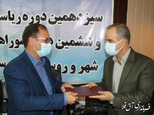 آئین معارفه سرپرست فرمانداری شهرستان آق قلا برگزار شد