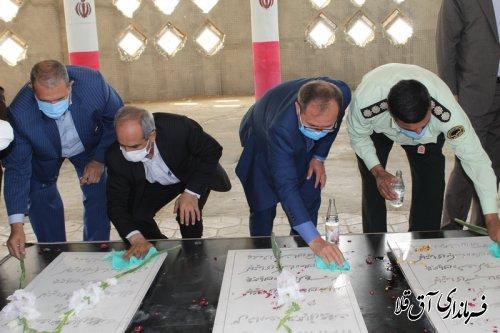 سرپرست فرمانداری به مقام شامخ شهدای گمنام شهر آق قلا ادای احترام نمود