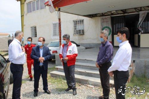 بازدید سرپرست فرمانداری از پروژه های ستاد مدیریت بحران شهرستان آق قلا