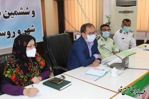 جلسه شورای ترافیک شهرستان آق قلا برگزار شد