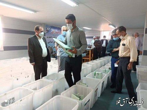 آمادگی کامل شهرستان آق قلا برای برگزاری انتخاباتی باشکوه و با مشارکت حداکثری