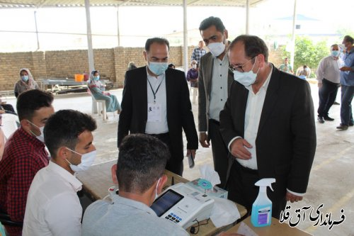 سرپرست فرمانداری و رئیس هیات اجرایی از شعبات اخذ رای در شهرستان آق قلا بازدید بعمل آورد