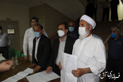 روند شمارش آراء و تحویل صندوق به فرمانداری شهرستان آق قلا آغاز شد