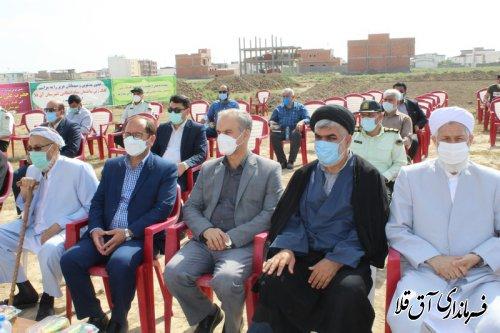مراسم کلنگ زنی ساختمان ستاد انتظامی شهرستان آق قلا برگزار شد