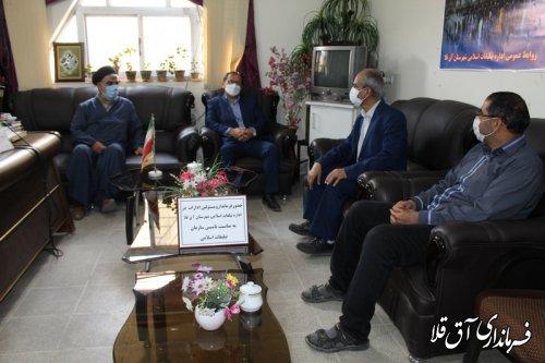 سرپرست فرمانداری با روسای اتاق اصناف و تبلیغات اسلامی شهرستان آق قلا دیدار کرد