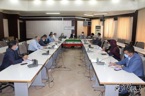 جلسه شورای ساماندهی سالمندان و کمیته مناسب سازی مبلمان شهری شهرستان آق قلا