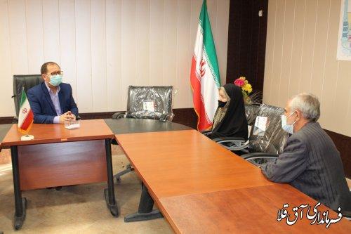ملاقات عمومی سرپرست فرمانداری شهرستان آق قلا برگزار شد