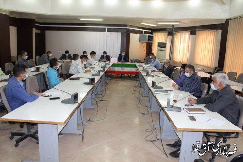 دومین جلسه کارگروه تخصصی سلامت و امنیت غذایی شهرستان آق قلا برگزار شد